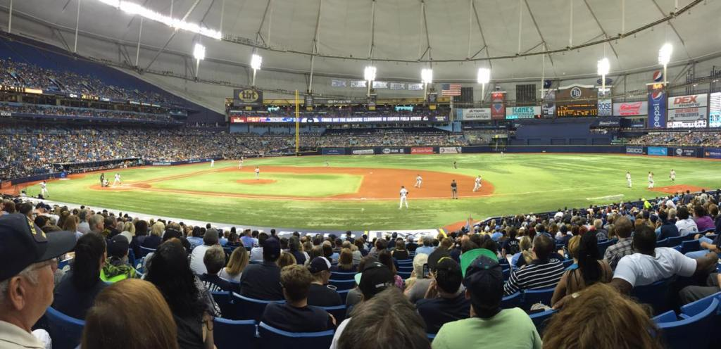 The Tampa Bay Rays pummeled the Chicago White Sox 7-2 before a crowd of 30,451 at Tropicana Field. (Photo Credit: Anthony Ateek/X-Rays Spex)