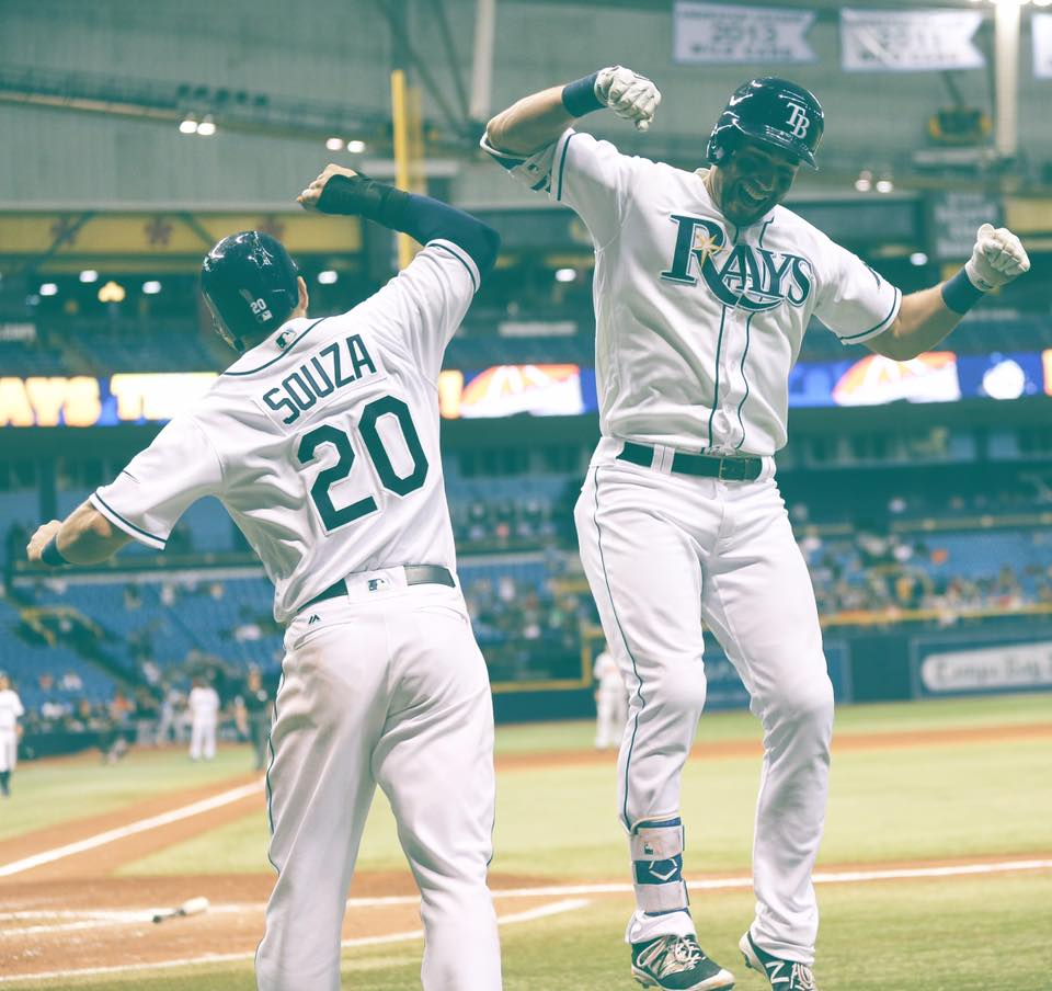 The new bash brothers? (Photo Credit: Tampa Bay Rays)