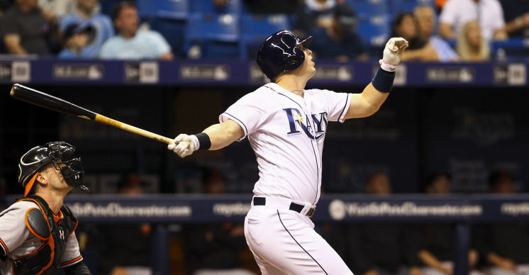 Rays DH Corey Dickerson is in his first year in the American League after three with the Rockies competing with the Dodgers in the NL West. (Photo Credit: Will Vragovic/Tampa Bay Times)