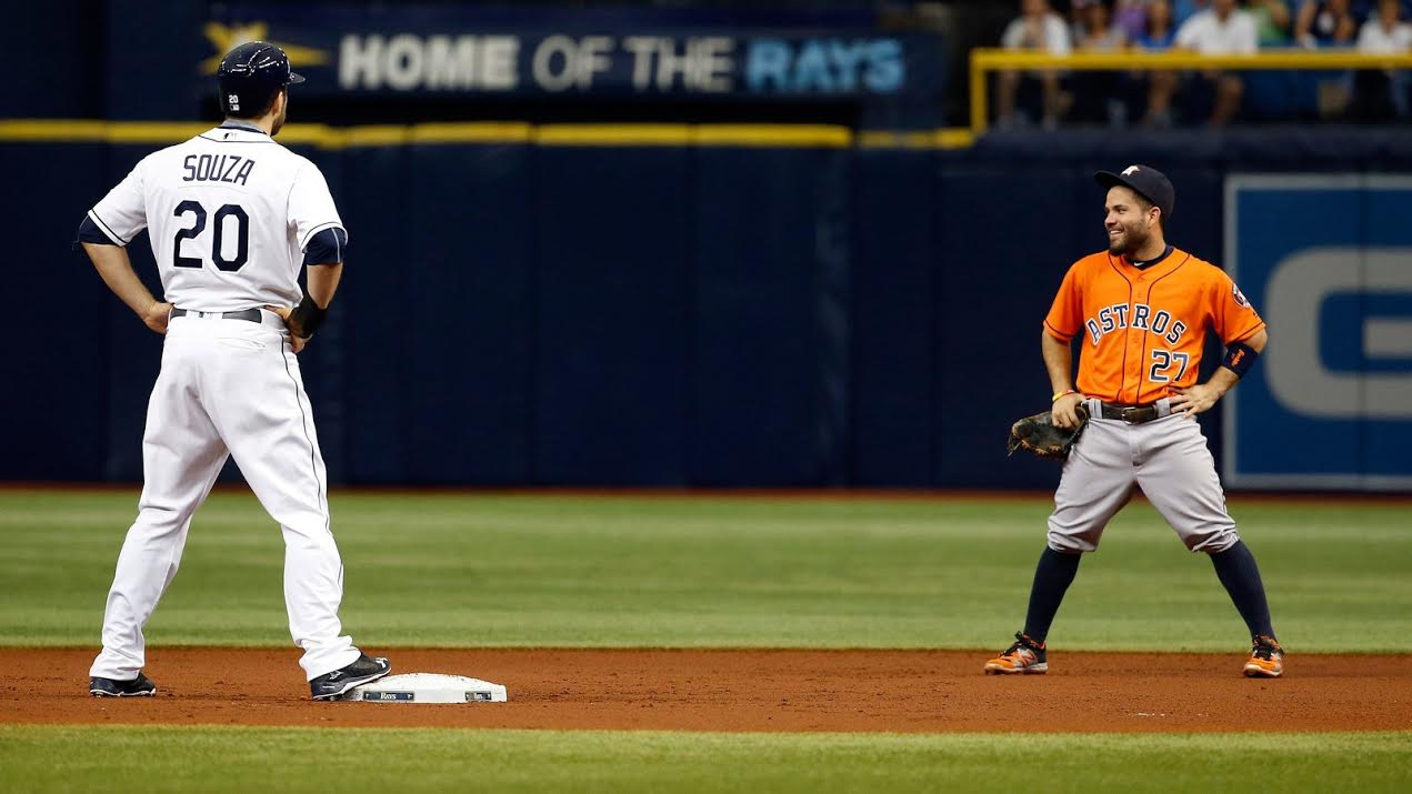 The Tampa Bay Rays mounted a ninth inning threat but came up short against the Astros. (Photo Credit: Tampa Bay Rays)