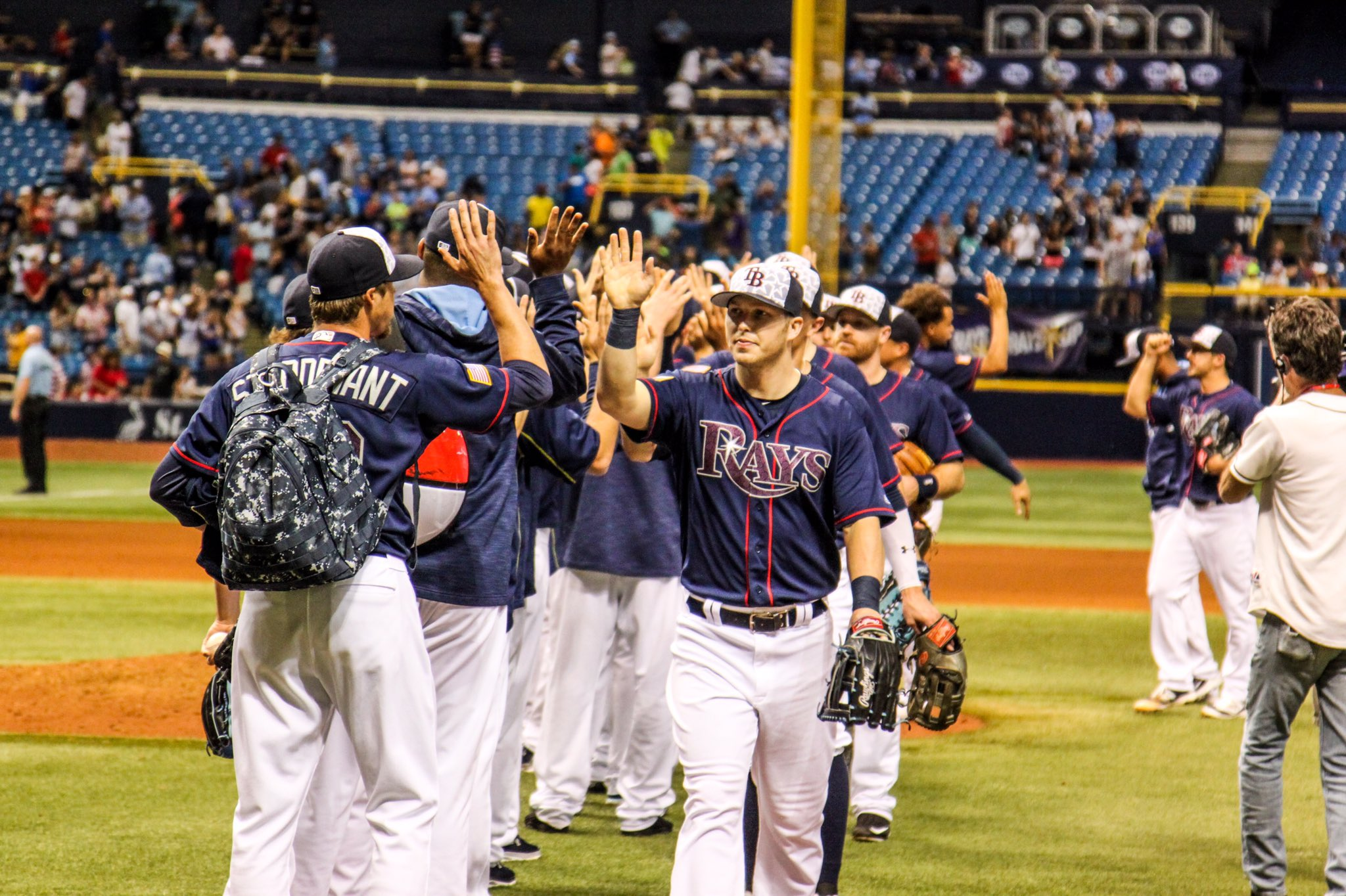 The Tampa Bay Rays collected a rare Fourth of July win on Monday. (Photo Credit: Tampa Bay Rays)