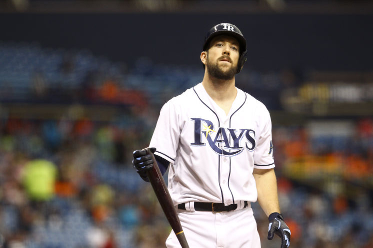 Steven Souza Jr. went 0-3 with a walk and three strikeouts in the series finale with the Los Angeles Angels on Thursday. (Photo Credit: Will Vragovic/Tampa Bay Times)
