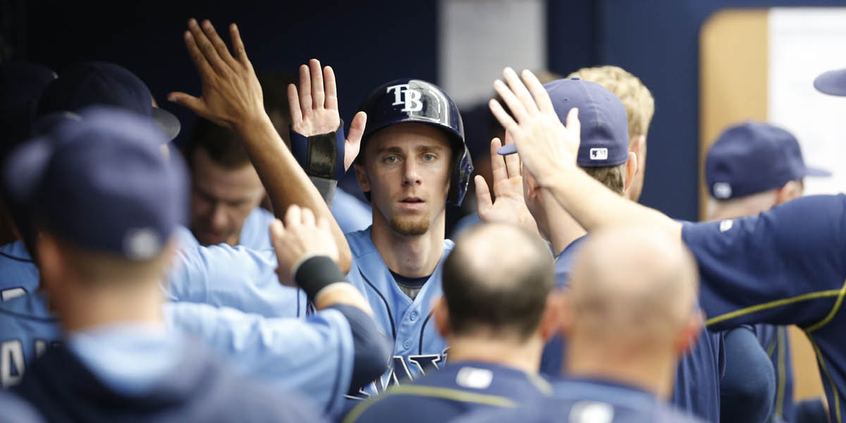 Matt Duffy went 2-4 with an RBI and a run on Sunday. (Photo Credit: Tampa Bay Rays)