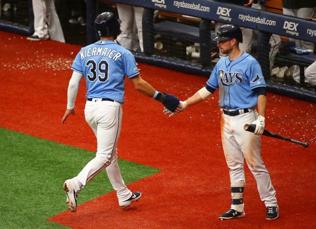 4c7069e9 Kevin Kiermaier and Brandon Lowe helped make things interesting in the  series finale against the Twins, on Sunday. (Photo Credit: Tampa Bay Rays)