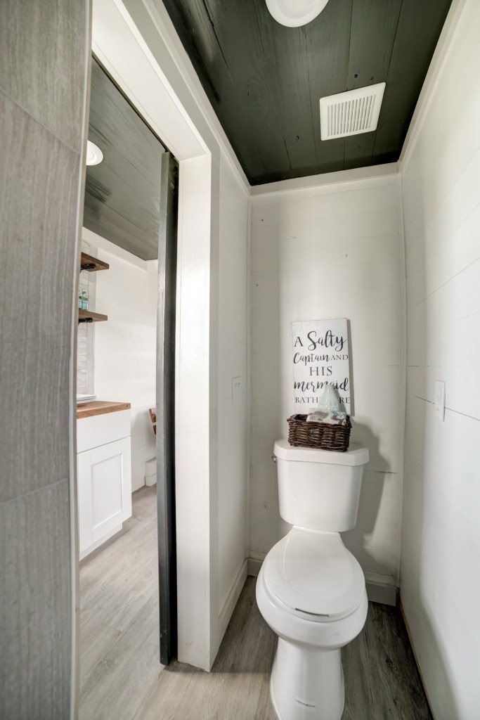 The Burg Tiny House - Bathroom