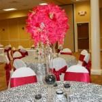 Red flower ball silk