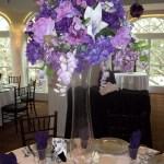 Medium silk centerpieces for rent purple