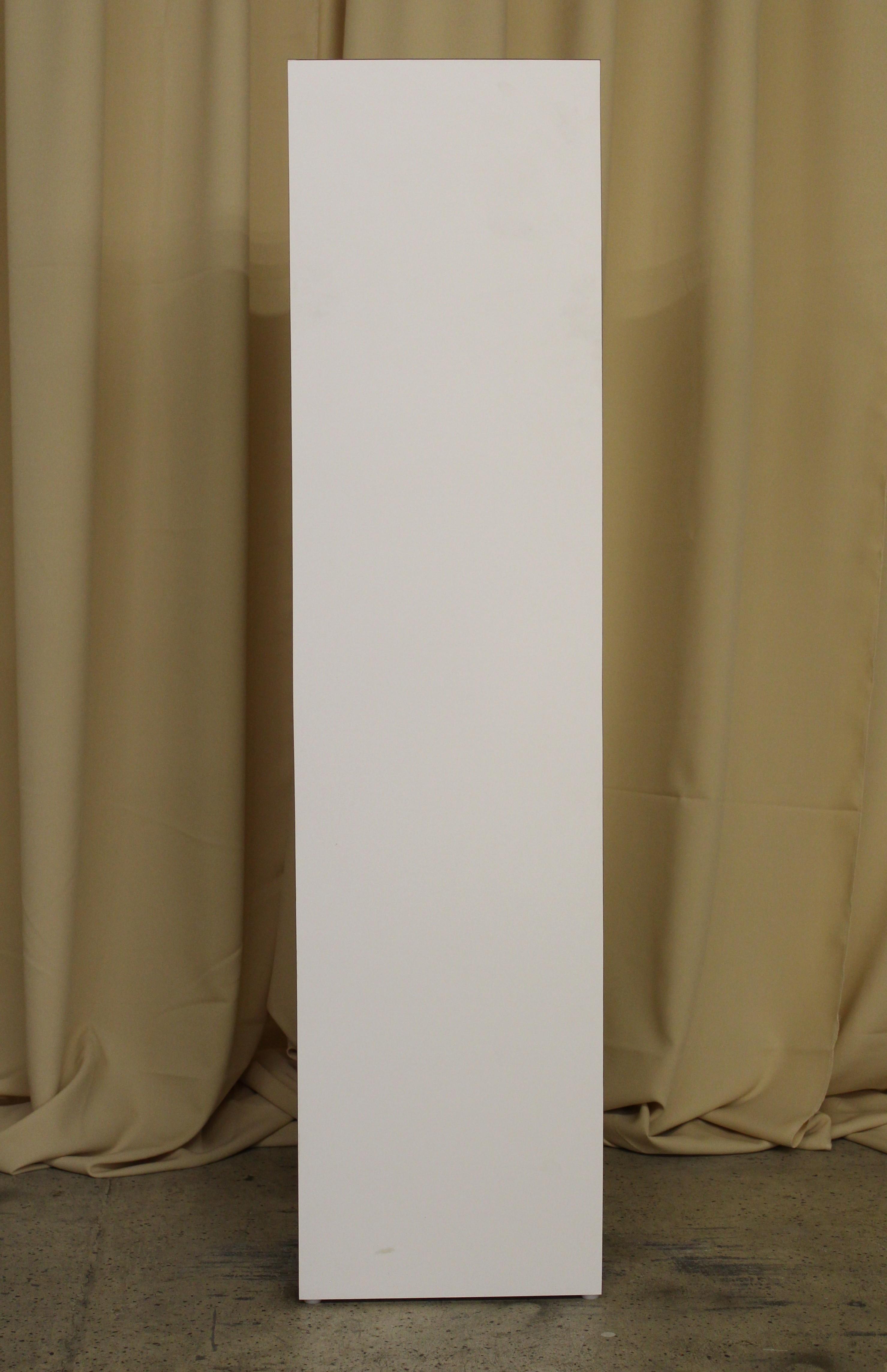 white laminate pedestal