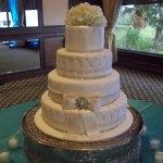cake flowers white toper