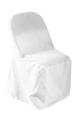 Folding chairs covers rentals Polyester white