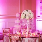 Pink flowers with candelabra