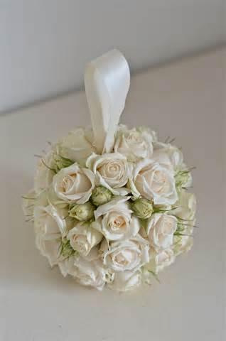 ivory spray roses Pomander Ball