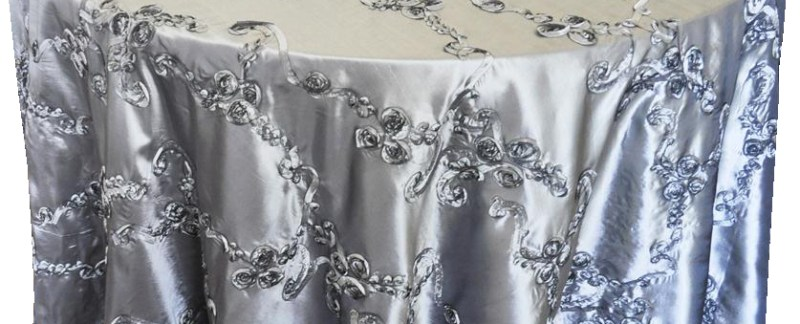Ribbon taffeta tablecloths