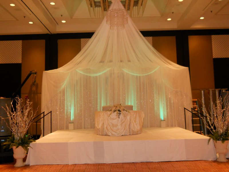 White and silver Stage