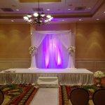 Double layer Backdrop Weddings Ceremonies