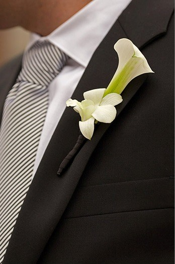 Calla Lilly and orchid boutonnier