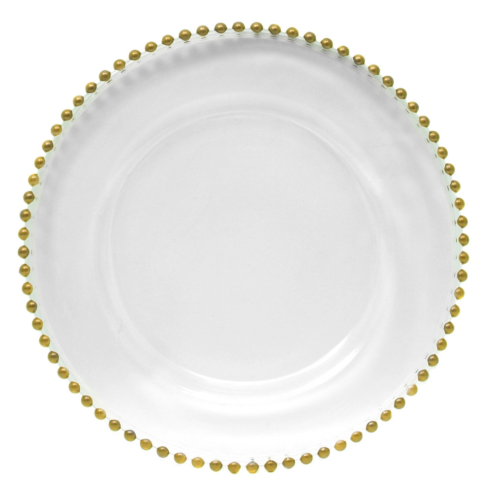 Glass Gold Charger Plate