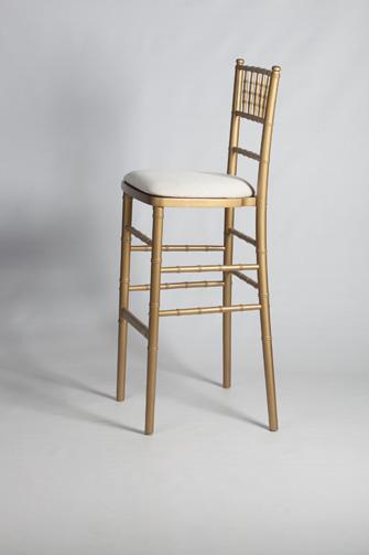 Chiavari Chair Stool Gold