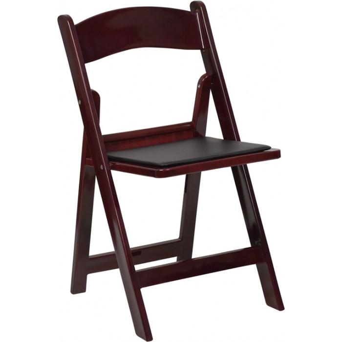 folding chair mahogany