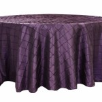 Pintuck tablecloths rentals-Plum