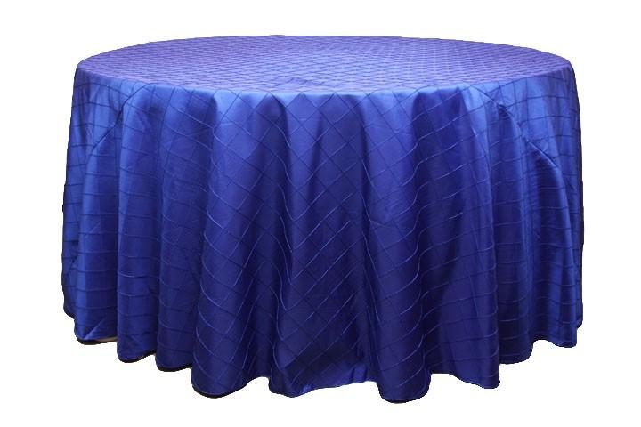 Pintuck tablecloths rentals-