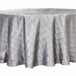Pintuck tablecloths rentals-Silver