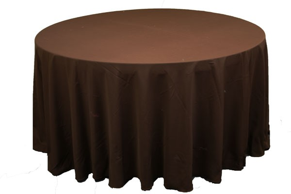 Polyester Tablecloths rentals chocolate