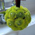 green bottoms Pomander Ball
