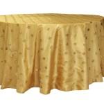 Sequin embroidery taffeta tablecloth rentals - Gold