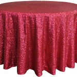 Glitz sequins tablecloths rentals Red