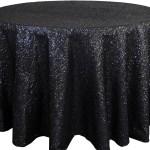 Glitz sequins tablecloths rentals Black