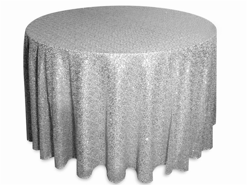 Glitz sequins tablecloths rentals
