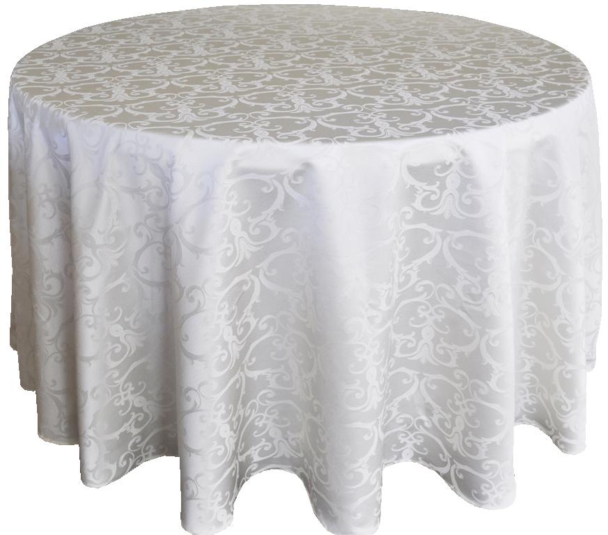 Versailles jacquard damask tablecloth rentals-ivory