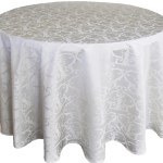 Versailles jacquard damask tablecloth rentals-ivory