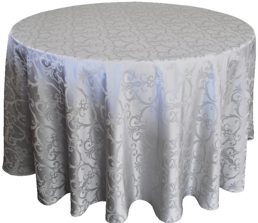 Versailles Jacquard Damask Tablecloth Rentals-silver
