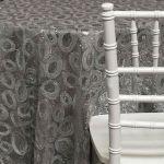 Sienna Tablecloths Rentals - Silver