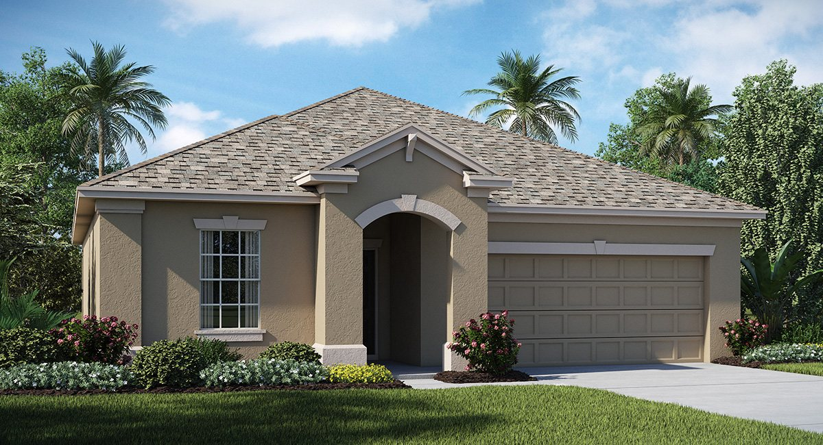 Connerton The New Jersey 1,738 sq. ft. 3 Bedrooms 2 Bathrooms 2 Car Garage 1 Story Land O Lakes Fl