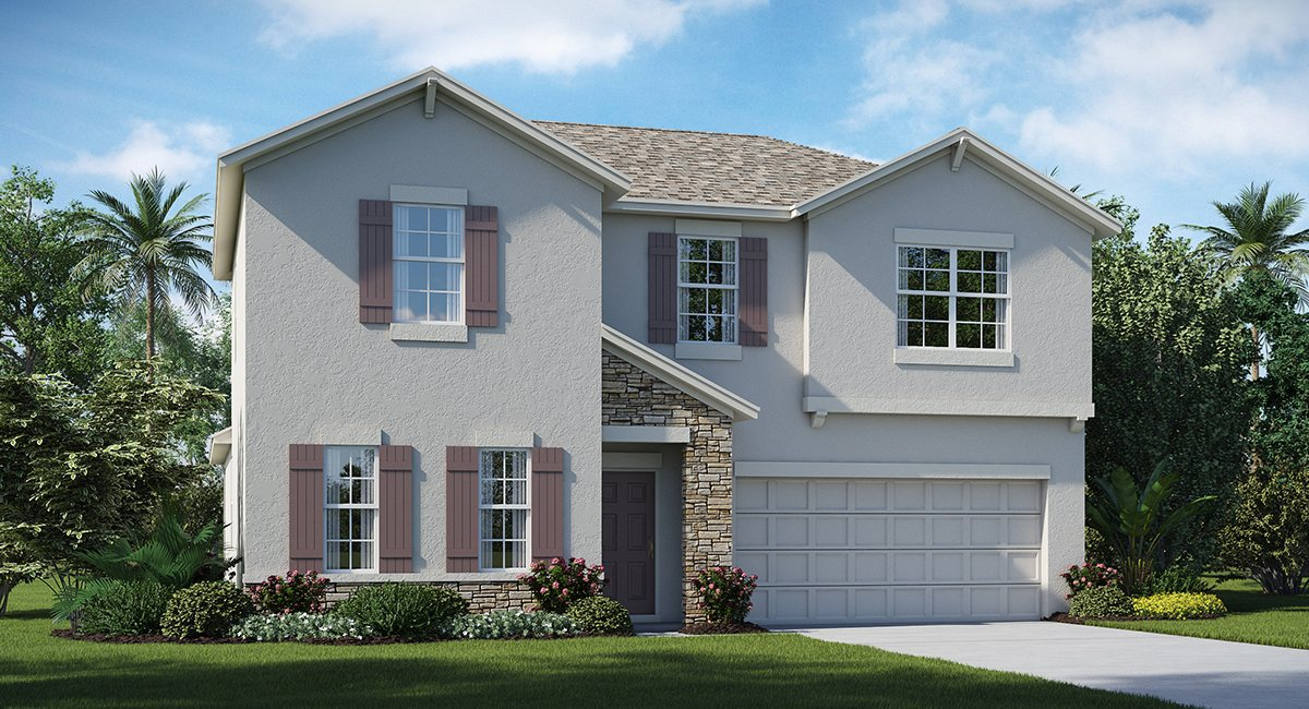 Belmont The Rhode Island  2,533 sq. ft. 4 Bedrooms 2 Bathrooms 1 Half bathroom 2 Car Garage 2 Stories Ruskin Fl