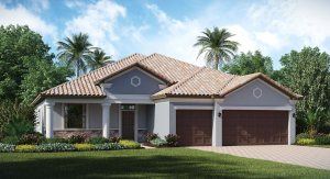 Waterleaf The Sand Dollar 2,460 sq. ft. 4 Bedrooms 3  Bathrooms 3 Car Garage 1 Story Riverview Fl