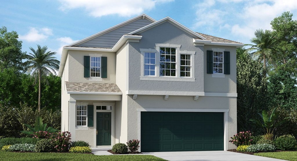 Connerton The Sheffield 2,349 sq. ft. 4 Bedrooms 2.5 Bathrooms 1 Half bathroom 2 Car Garage 2 Stories Land O Lakes Fl