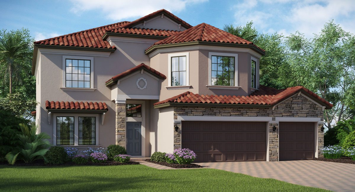 The Wolcott |  2 Story | 6 Bed | 3 Bath | 3 Car | Riverview Florida