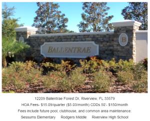 Ballantrae Riverview Florida 33579