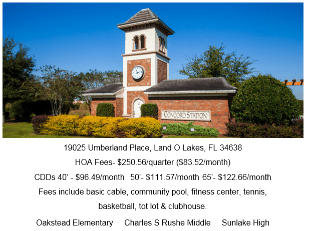 Concord Station Land O Lakes Florida