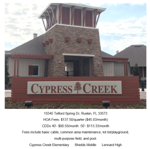 Cypress Creek Ruskin Florida 33573