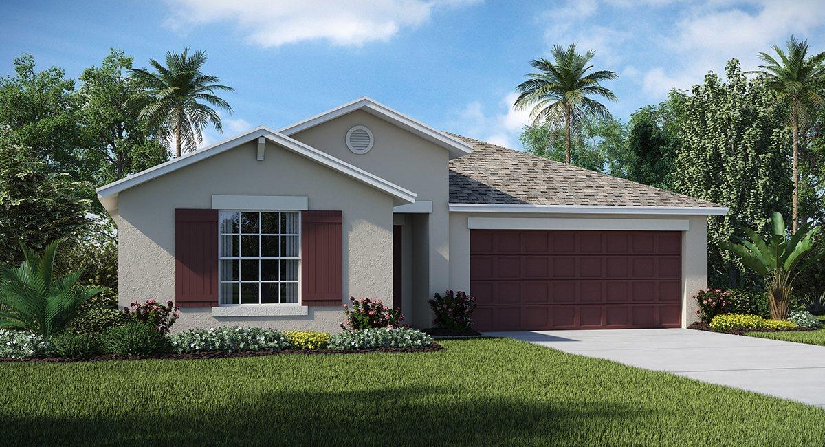 Riverbend West Exective Homes The Hartford  1,937 sq. ft. 4 Bedrooms 2 Bathrooms 2 Car Garage 1 Story Ruskin Fl 33570