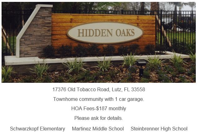Hidden Oaks Lutz Florida