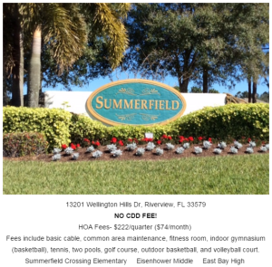 Summerfield Crossing Riverview Florida