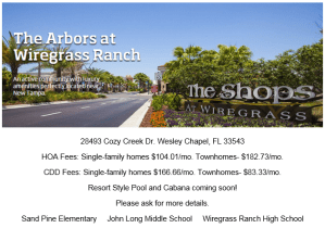 The Arbors at Wiregrass Ranch: Manor Homes
