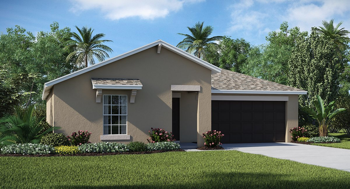 The Summit at Fern Hill The Dover 1,556 sq. ft. 3 Bedrooms 2 Bathrooms 2 Car Garage 1 Story Riverview Florida 33578