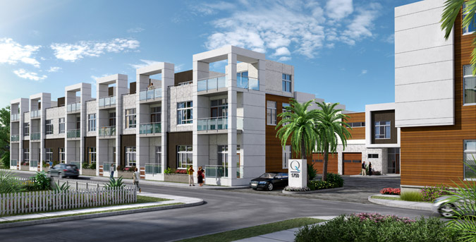 The Q Luxury Town Homes in Downtown Sarasota Florida